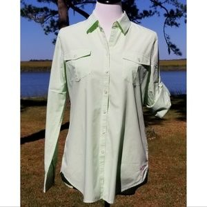 Lilly Pulitzer gingham collared shirt